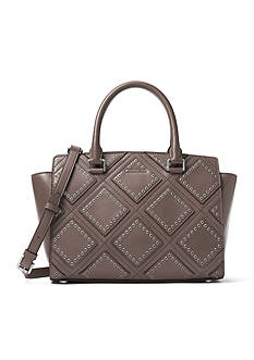 MICHAEL Michael Kors Diamond Grommet Selma Medium Satchel