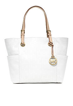 MICHAEL Michael Kors Jet Set East West Signature Mono Mirror Metallic Top Zip Tote