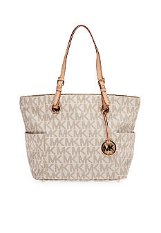 MICHAEL Michael Kors Jet Set MK PVC East West Signature Tote