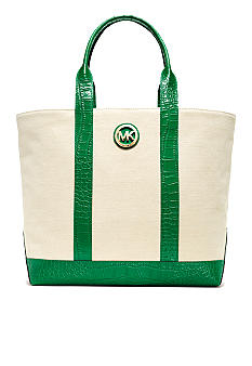 MICHAEL Michael Kors Fulton Canvas Two Toned Tote
