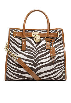MICHAEL Michael Kors Hamilton NS Tote in Canvas Printed Jute