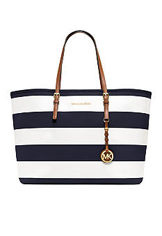 MICHAEL Michael Kors Jet Set Medium Striped Travel Tote