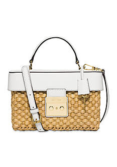 MICHAEL Michael Kors Straw Gabrielle Medium Satchel