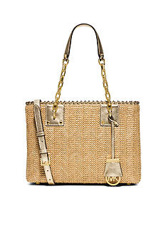 MICHAEL Michael Kors Straw Rosalie Medium East West Tote
