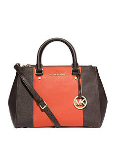 MICHAEL Michael Kors Sutton Center Stripe Medium Satchel