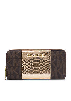 MICHAEL Michael Kors Jet Set Travel Logo Snake Pattern-Embossed Leather Wallet