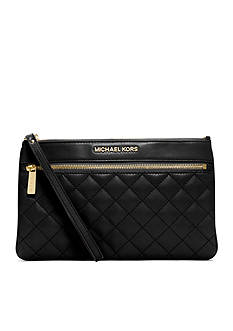 MICHAEL Michael Kors Selma Quilted Leather Clutch