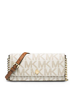 MICHAEL Michael Kors Signature Saffiano Wallet On a Chain
