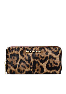 MICHAEL Michael Kors Jet Set Travel Leopard Calf Hair Wallet