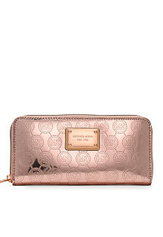 MICHAEL Michael Kors Mono Mirror Metallic Zip Around Continental Wallet