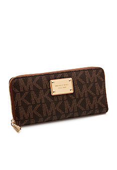 MICHAEL Michael Kors PVC Monogram Zip Around Continental