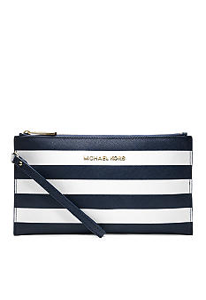 MICHAEL Michael Kors Striped Wristlet