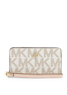 MICHAEL Michael Kors Jet Set Zip-Around Logo Travel Wallet