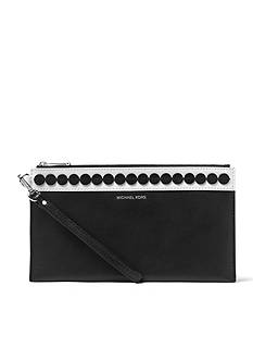 MICHAEL Michael Kors Analise Extra-Large Applique Leather Clutch