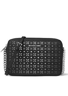 Michael by Michael Kors Jet Set Travel Perforated Crossbody