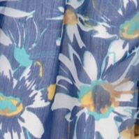 Women: Scarves & Wraps Sale: Loyal Navy Collection XIIX Floral Fields Scarf