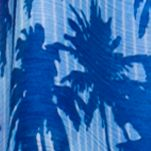 Collection 18: Midnight Sapphire Collection XIIX Tropical Palm Square Scarf