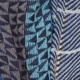 Juniors Scarves: Australian Blue Collection XIIX Square Meets Triangle Infinity Scarf