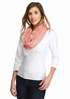 Collection XIIX Open Weave Infinity Scarf
