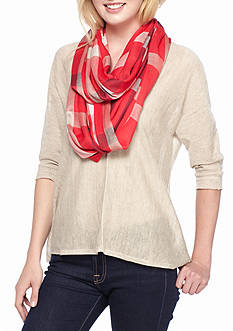 Collection XIIX Basic Plaid Infinity Scarf