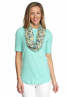 Collection XIIX Bohemian Paisley Infinity Scarf