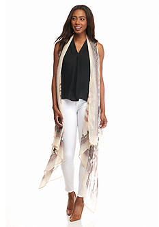 Collection XIIX Tie Dye Travel Trench Vest
