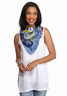 Vince Camuto Brushed Blooms Scarf