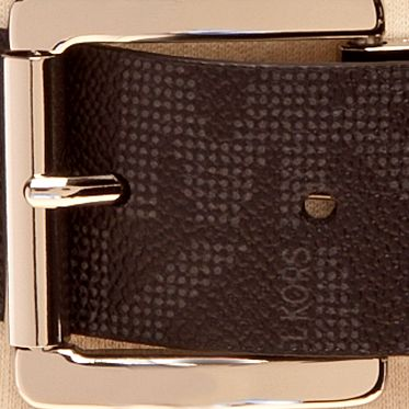 Handbags & Accessories: Michael Kors Designer Accessories: Black Michael Kors Fashion Reversible Belt