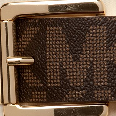 Belts for Women: Chocolate/Luggage Michael Kors Fashion Reversible Belt