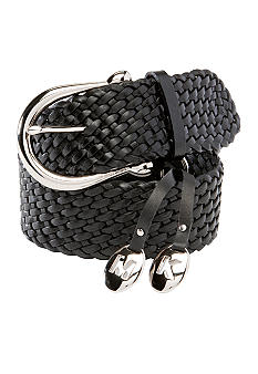 Michael Kors Woven Leather Braid Belt