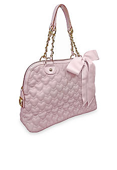 Betsey Johnson Be My One and Only Now Dome Satchel
