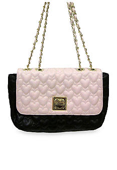 Betsey Johnson Be My One & Only Multi Flapover Satchel