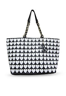 Betsey Johnson Plastic Hearts Tote
