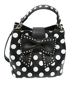 Betsey Johnson Hopeless Romantic Bucket Hobo<br>
