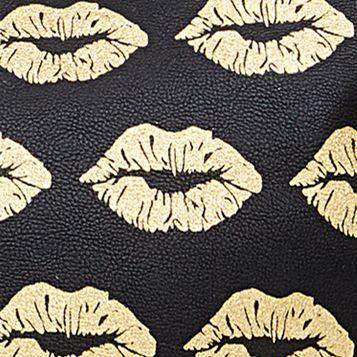 Betsey Johnson Women Sale: Black/Gold Betsey Johnson Bowlette Tote