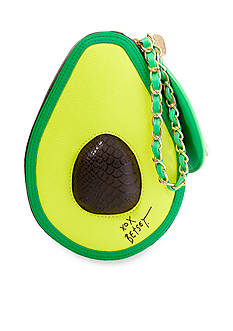 Betsey Johnson Kitsch Avocado Wristlet
