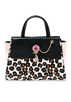 Betsey Johnson Key to My Heart Large Satchel