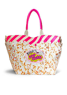 Betsey Johnson Amuse Me Popcorn Canvas Tote