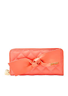 Betsey Johnson Family Ties Zip Around Wallet