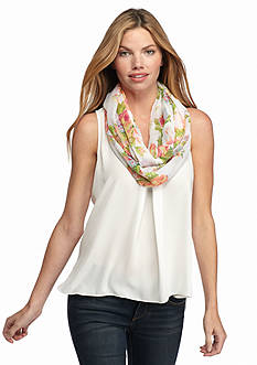 New Directions Countess Floral Infinity Scarf