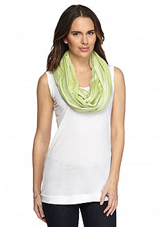Cejon Two-Tone Woven Variegated Stripe Infinity Scarf