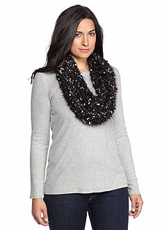 New Directions Popcorn Knit Soft Side Infinity Scarf