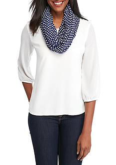 New Directions Polka Dot Infinity Scarf