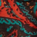 New Directions Juniors Sale: Black Multi New Directions Autumnal Paisley Infinity Scarf