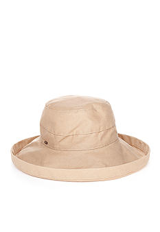 Scala Collezione Wide Brim Cotton Canvas Hat