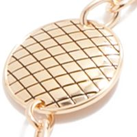 Belts for Women: Gold New Directions Quilted Circle Chain Metal Belt