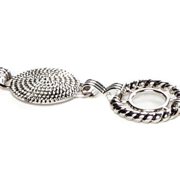 Belts for Women: Silver New Directions Alternating Braided Round Disc Belt