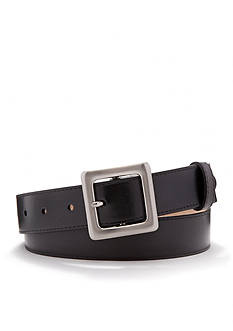 New Directions Smooth Panel Leather Belt