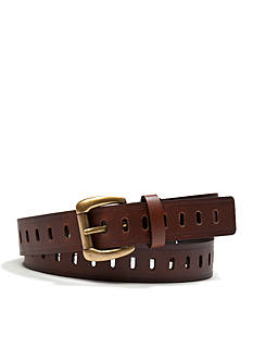 New Directions® Oval Perforated Roller Buckle Belt