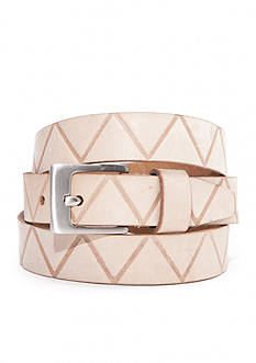 New Directions Zig Zag Embossed Panel Belt